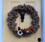 The Easiest Burlap Wreath Ever